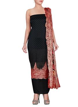 Black Satin Dress Material