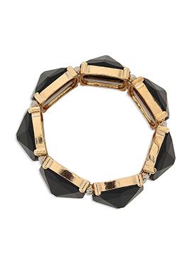Black Crystals Studded Bracelet