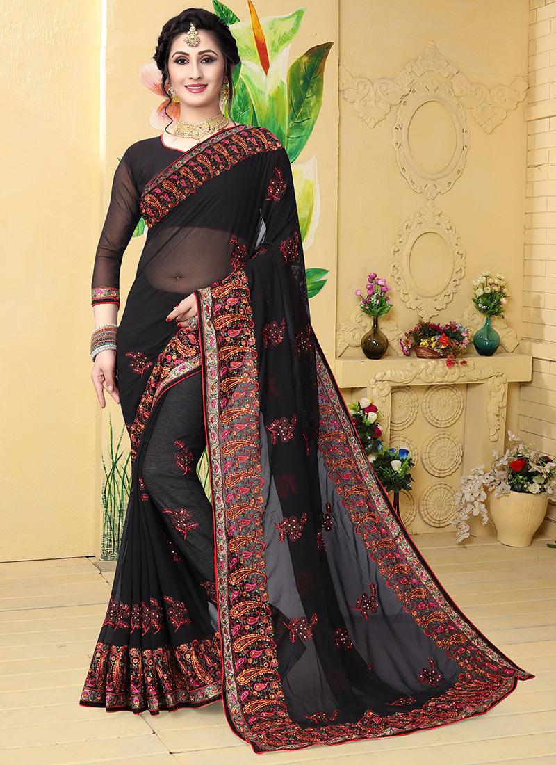 saree embroidered sari sarees shopping zari shipping