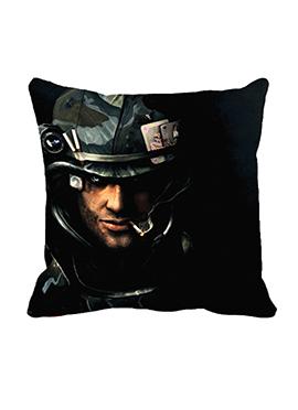 Black Face Cushion Cover