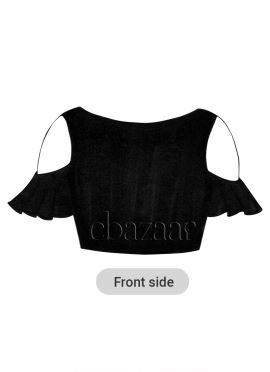 Black Flared Sleeve Blouse