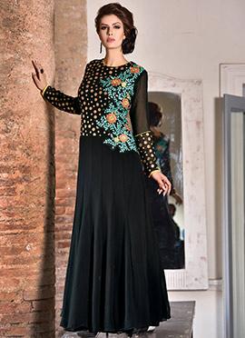 Black Georgette Anarkali Gown