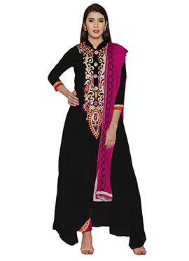 Black Georgette Anarkali Suit