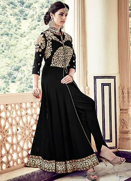 Black Georgette Ankle Length Anarkali Suit