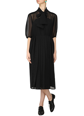 Black Georgette Dress