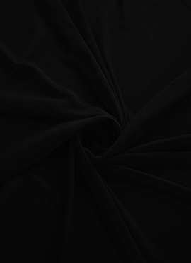 Black Georgette Fabric