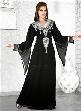 Black Georgette Fustan