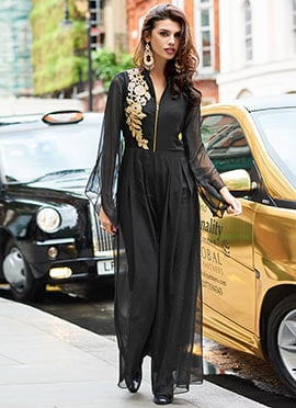 Black Georgette Jump Suit