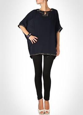 Black Georgette Kaftan Dress