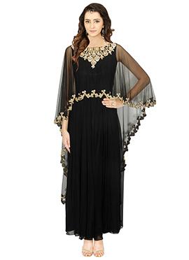 Black Georgette Net Dress