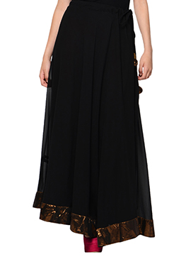 Black Georgette Skirt