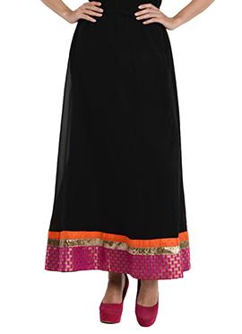 Black Georgette Skirt