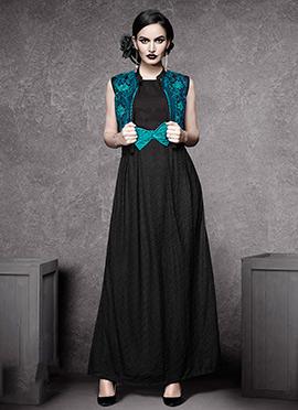 Black Georgette Tunic
