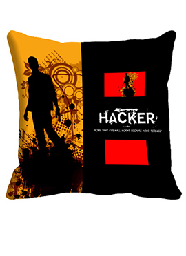 Black Hacker Cushion Cover