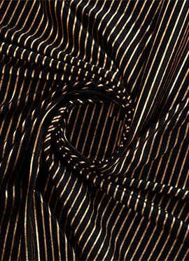 Black Heavy Pure Satin Fabric
