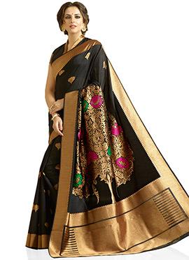 Black Kancheepuram Silk Saree
