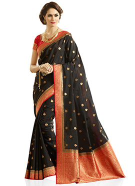 Black Kancheepuram Silk Saree