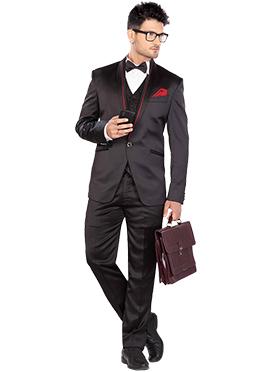 Black Lapel Suit