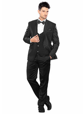 Black Lapel Suit