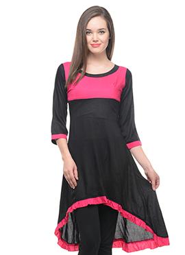 Black Lingra Asymmetric Kurti