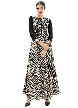 Black Long Anarkali Kurti