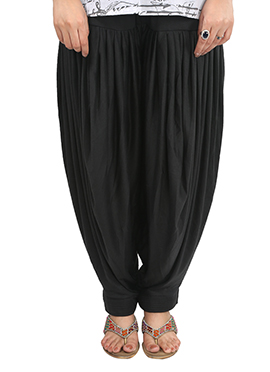 Black Lycra Patiala Pant