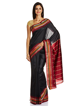 Black Mysore Art Silk Saree