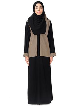 Black N Beige Abaya