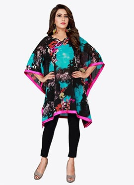 Black N Blue Georgette Kaftan