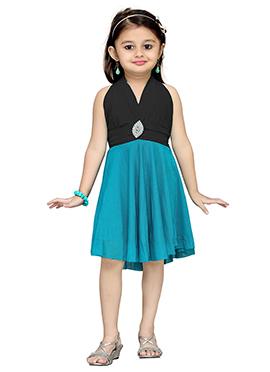 Black N Blue Net Kids Dress