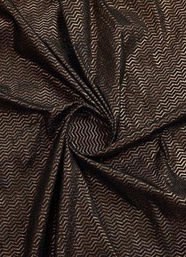 Black N Brown Art Silk Fabric