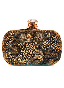 Gold Embellished Stylish Clutch