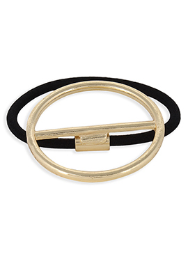 Black N Gold Geometric Motif Rubber Band