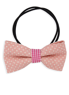 Black N Light Pink Bow Style Rubber Band