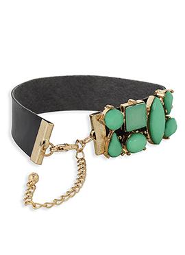 Black N Moss Green Colored Stylish Bangles