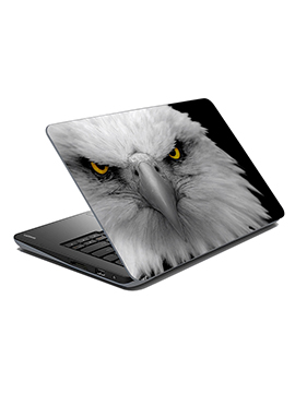 Black N Off White Eagle Laptop Skin