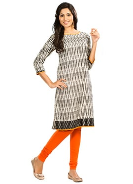 Black N Off White Maybell Kurti
