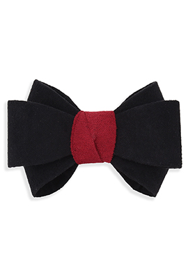 Black N Red Bow Style Rubber Band