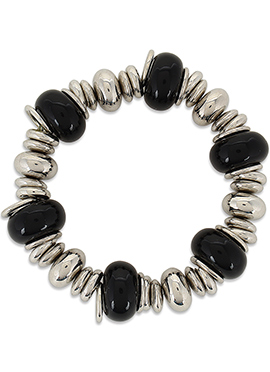 Black N Silver Colored Bracelet