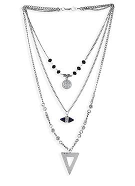 Black N Silver Necklace