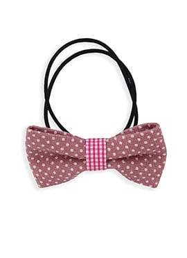 Black N Thulian Pink Bow Style Rubber Band