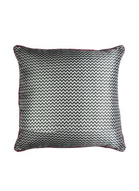 Black N White Art Silk Cushion Cover