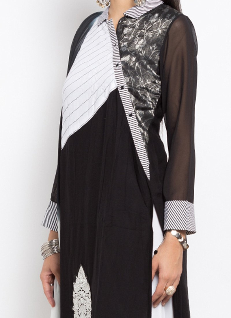 Buy Black N White Cotton Palazzo Suit, palazzo-suit Online ...