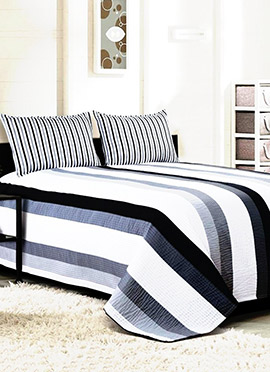 Black N White Pure Cotton Bed Cover