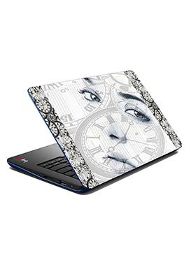 Black N White Time Laptop Skin