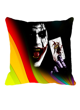 Black N Yellow Joker Cushion Cover