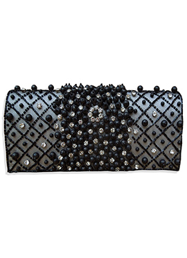 Black Net Clutch