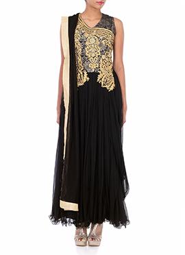 Black Net Floor Length Anarkali Suit