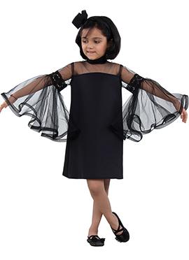 Black Net Kids Dress