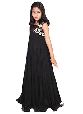 Black Net N Viscose Chiquitita Kids Gown